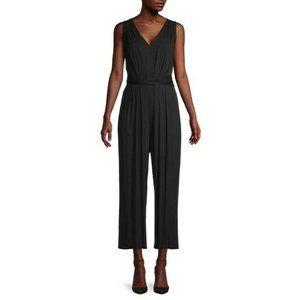ASTR The Label V-Neck Sleeveless Cropped Jumpsuit
